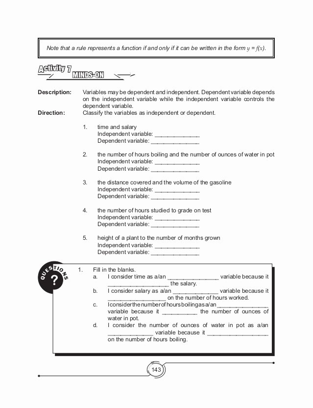 Dependent and Independent Variables Worksheet Inspirational Independent and Dependent Variables Worksheet Science the