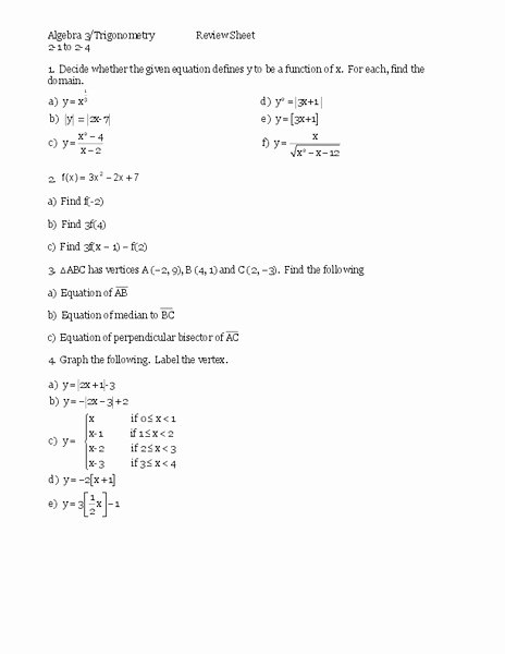 Derivative Of Trigonometric Functions Worksheet Elegant Trigonometric Functions Worksheet for 11th Higher Ed