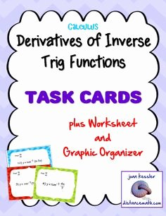 Derivative Of Trigonometric Functions Worksheet New I Luv Calculus On Pinterest