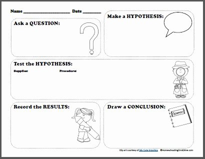 Designing An Experiment Worksheet Luxury Free Scientific Method Printable Worksheet for Kids