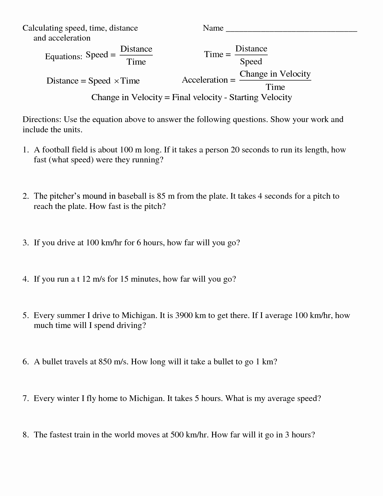 Determining Speed Velocity Worksheet Answers Awesome 10 Best Of Distance formula Worksheet Graph