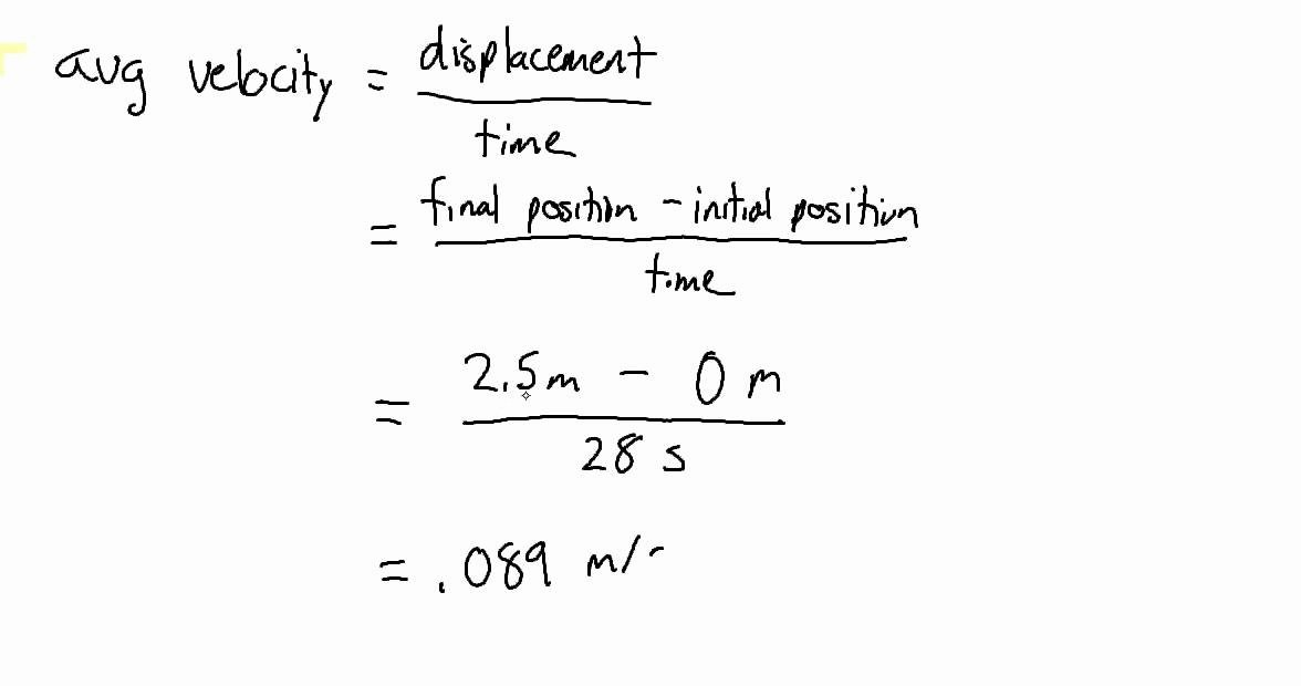 Determining Speed Velocity Worksheet Answers Lovely Position and Velocity Worksheet Problem 1 Avg Speed and