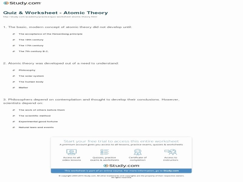 Development Of atomic theory Worksheet New Development atomic theory Worksheet Free Printable