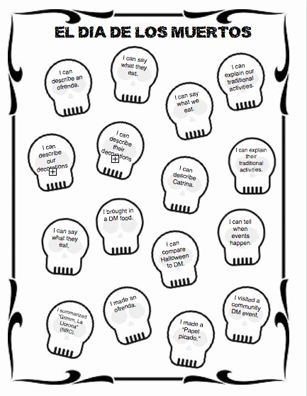 Dia De Los Muertos Worksheet Awesome Dia De Los Muertos Worksheets Worksheets Tutsstar