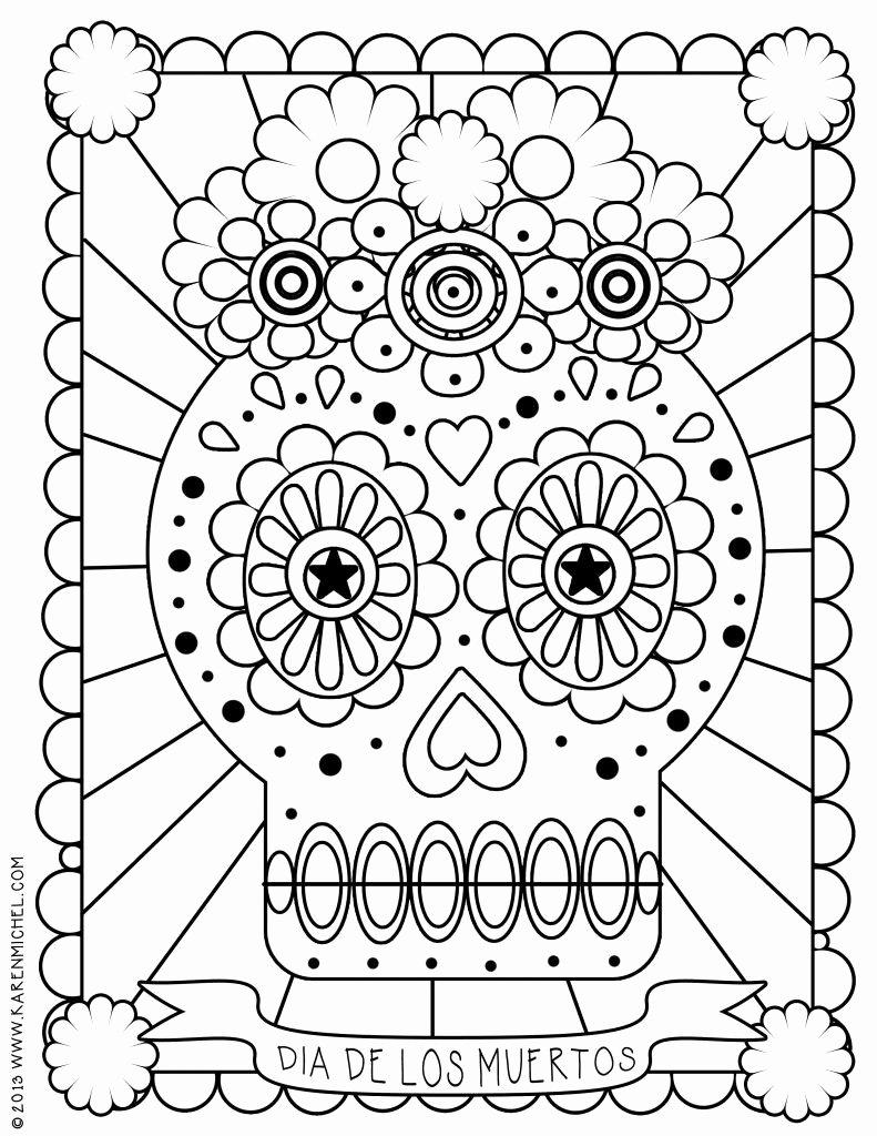 Dia De Los Muertos Worksheet Beautiful Dia De Los Muertos Coloring Page