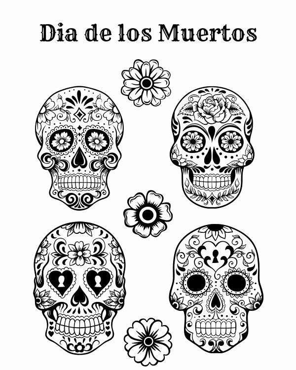 Dia De Los Muertos Worksheet Beautiful Free Printable Dia De Los Muertos Coloring Page