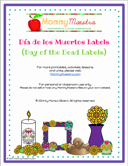 Dia De Los Muertos Worksheet Best Of Mommy Maestra Mommymaestra S Day Of the Dead Da De Los