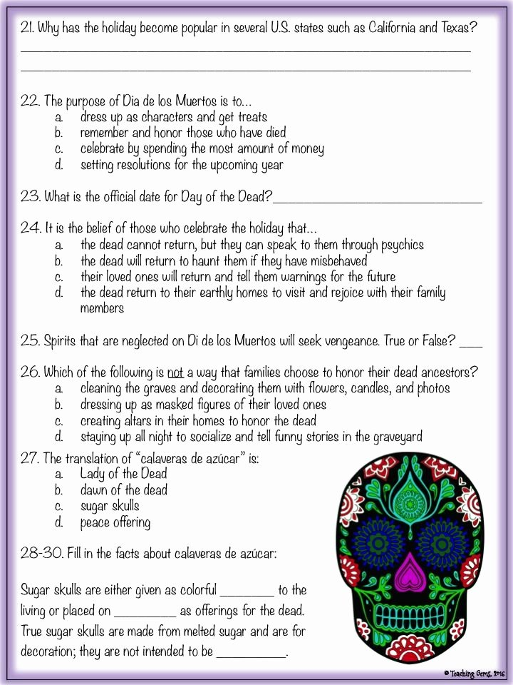 Dia De Los Muertos Worksheet Best Of Seasonal Web Quest for October November Add A Little