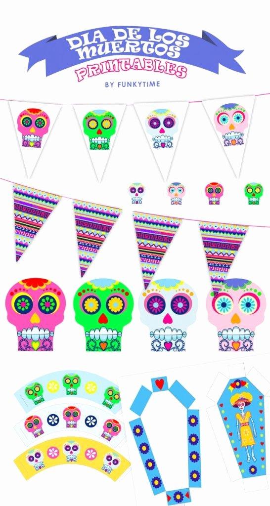 Dia De Los Muertos Worksheet Elegant Dia De Los Muertos Printables by Funkytime Go to