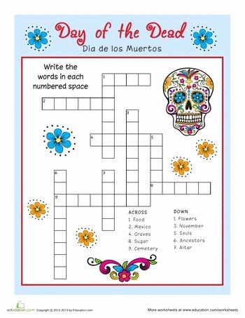 Dia De Los Muertos Worksheet Fresh 34 Best Day Of the Dead Images On Pinterest