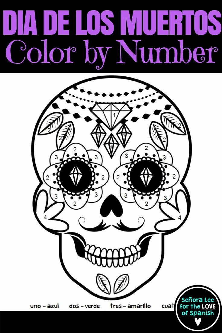 Dia De Los Muertos Worksheet Inspirational Best 25 Color by Numbers Ideas Only On Pinterest