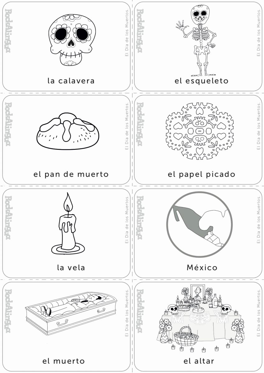 Dia De Los Muertos Worksheet Inspirational Day Of the Dead Picture Dictionary