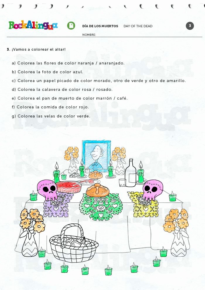 Dia De Los Muertos Worksheet Lovely Day Of the Dead Worksheet