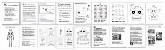 Dia De Los Muertos Worksheet Lovely Day Of the Dead Worksheets 10 Dia De Los Muertos Activities