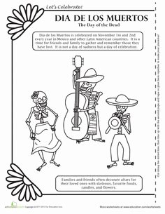 Dia De Los Muertos Worksheet Luxury 1000 Images About Cultural Art Projects On Pinterest