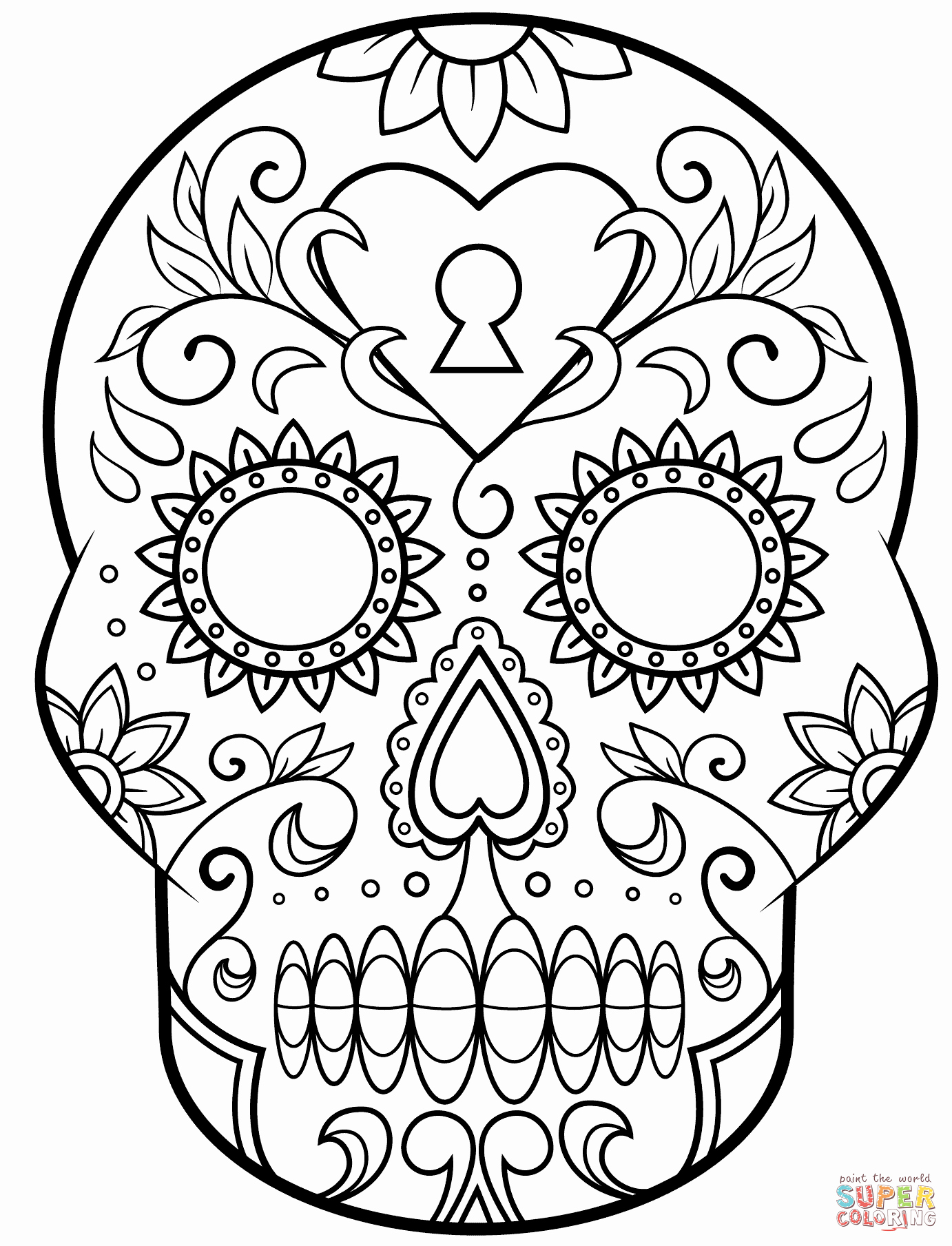 Dia De Los Muertos Worksheet Luxury Day Of the Dead Sugar Skull Coloring Page