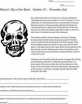 Dia De Los Muertos Worksheet New 76 Best Day Of the Dead Images On Pinterest