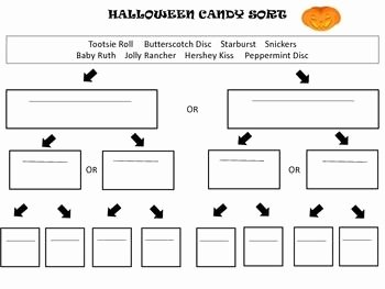 Dichotomous Key Worksheet Middle School Awesome Halloween Candy sort Using A Dichotomous Key
