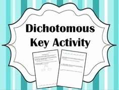Dichotomous Key Worksheet Middle School Unique Here S A Dichotomous Key Activity On Animals