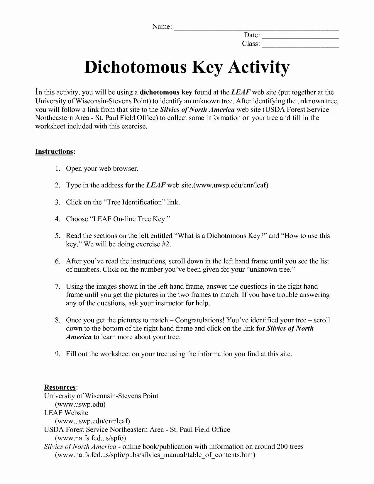 Dichotomous Key Worksheet Pdf Beautiful Dichotomous Key Insects Worksheet the Best Worksheets