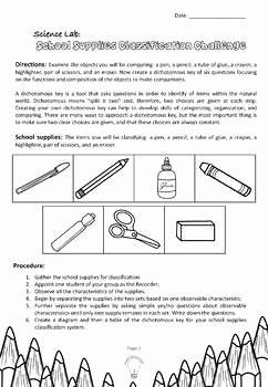 Dichotomous Key Worksheet Pdf Lovely Pdf School Supplies Classification Dichotomous Key Group