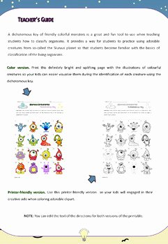 Dichotomous Key Worksheet Pdf New Pdf the Dichotomous Key Of Friendly Aliens with Guide How