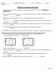 Diffusion and Osmosis Worksheet Inspirational Osmosis and Diffusion Ws Lab Name Date Class Diffusion