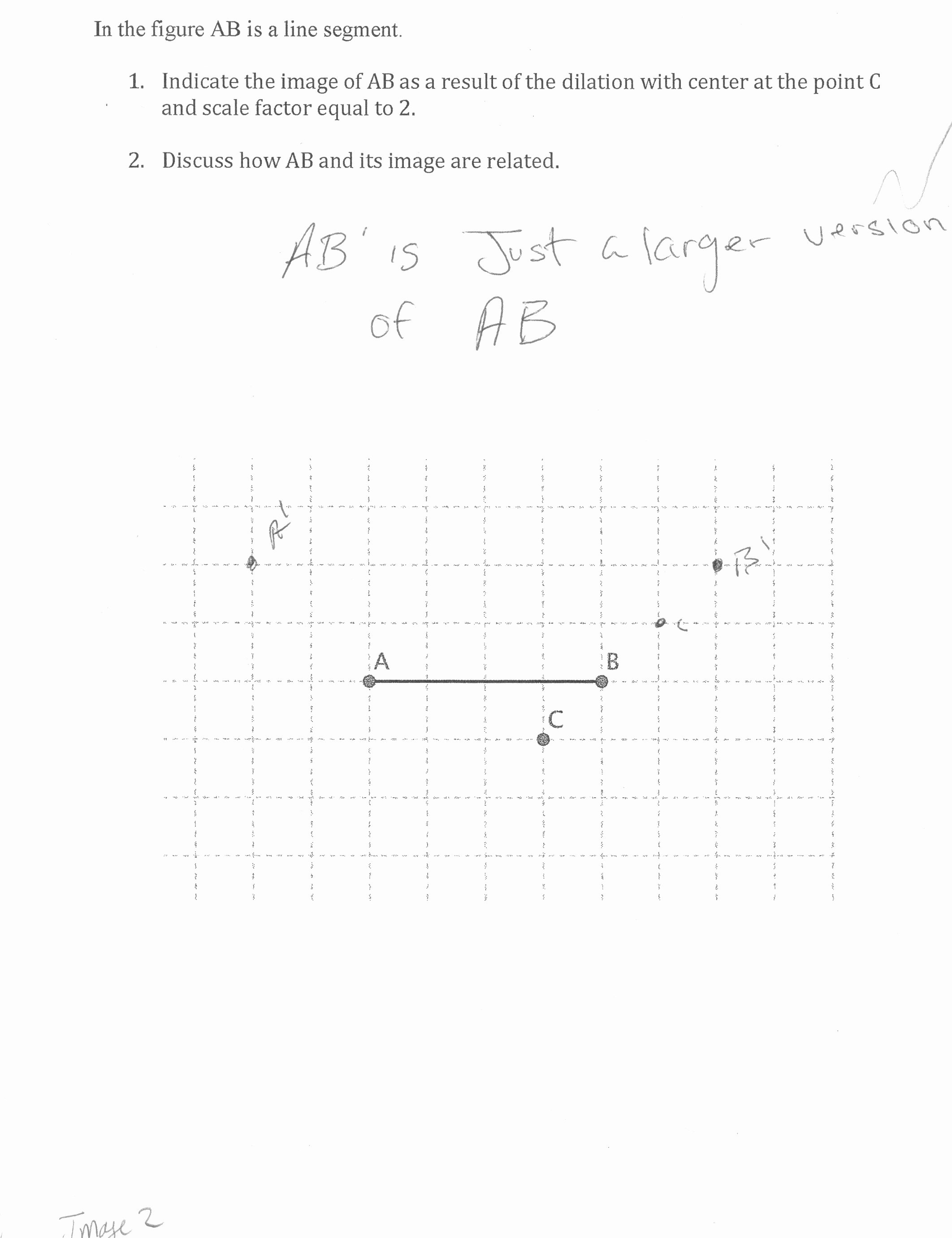 Dilations and Scale Factor Worksheet Beautiful Dilation Of A Line Segment