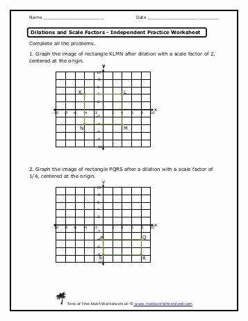 Dilations and Scale Factor Worksheet Beautiful Dilations Worksheet
