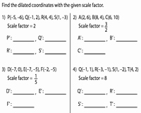 Dilations and Scale Factor Worksheet Elegant Dilation with Center at origin
