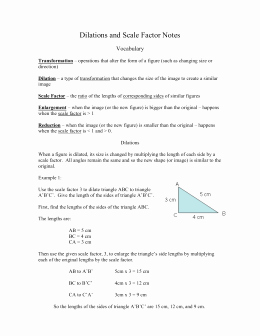 Dilations and Scale Factor Worksheet Elegant Geometry – Dilations Unit 3 Worksheet 3