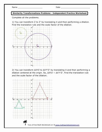 Dilations and Scale Factor Worksheet Fresh Dilations and Scale Factors Independent Practice Worksheet