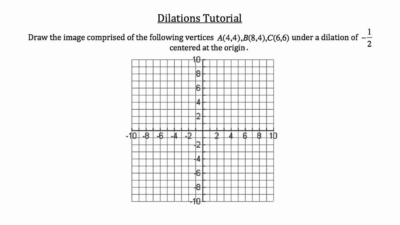Dilations Translations Worksheet Answers Beautiful Dilation Worksheets Kuta