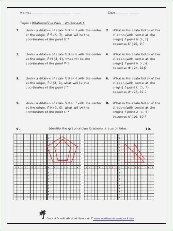 Dilations Translations Worksheet Answers Beautiful Dilations Worksheet Kuta