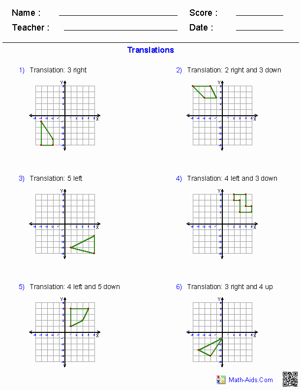 Dilations Translations Worksheet Answers Elegant Geometry Worksheets