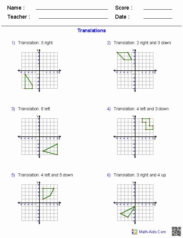 Dilations Translations Worksheet Answers Elegant Geometry Worksheets