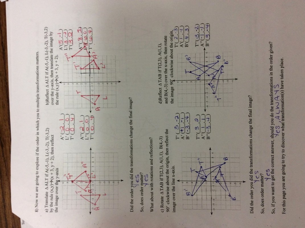 Dilations Translations Worksheet Answers Lovely Mon Core Math 8 Math with Mrs Hess