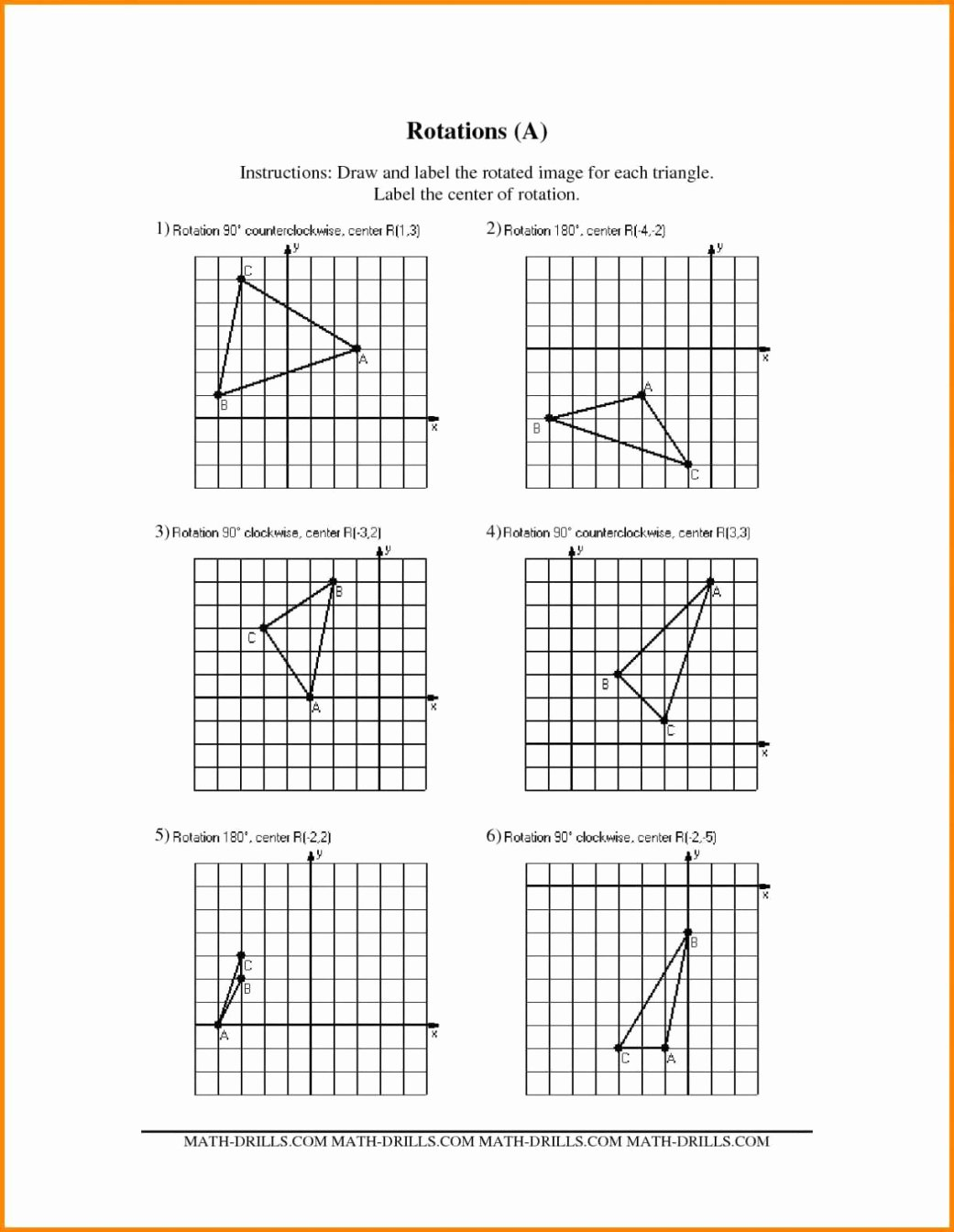 Dilations Translations Worksheet Answers Lovely Vectors In Translations Worksheet Geekchicpro Kateho Math