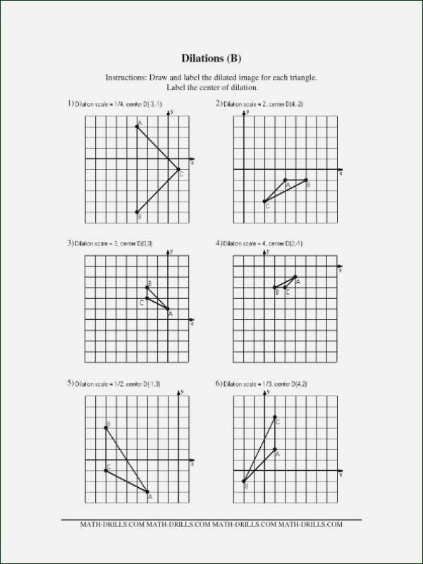 Dilations Translations Worksheet Answers Luxury Dilations Worksheet Kuta