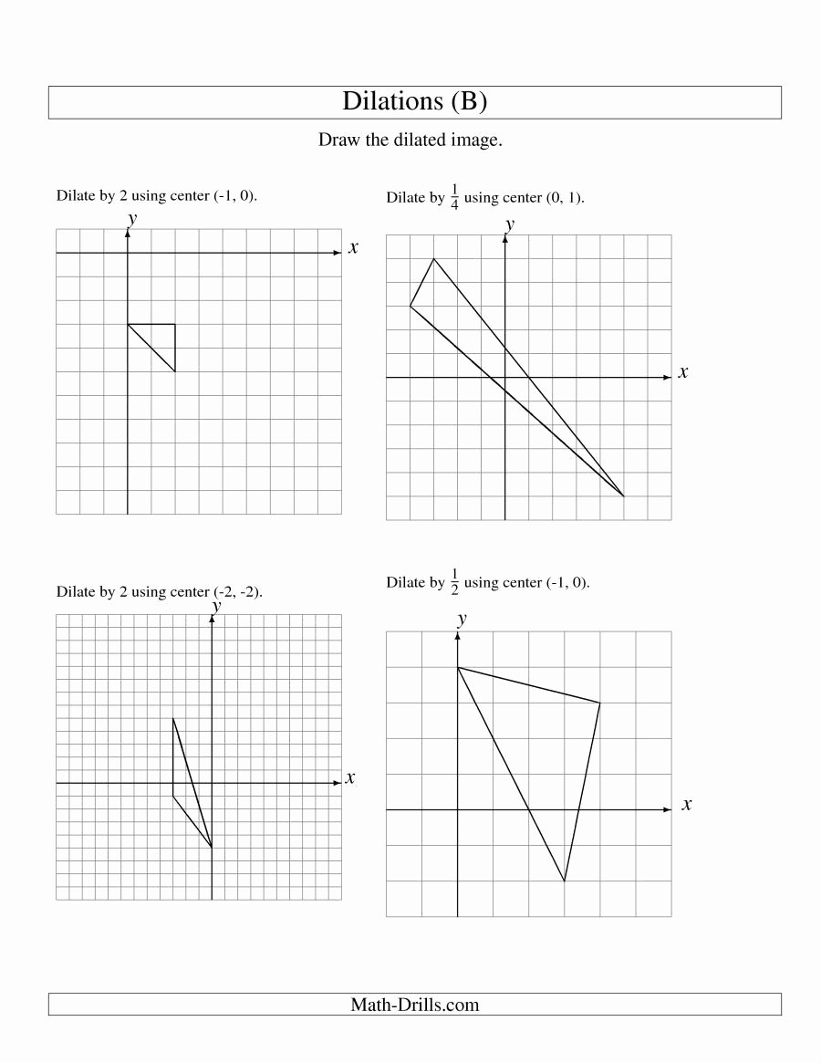 Dilations Translations Worksheet Answers Unique Dilations Old Version A the Math Worksheet Page 2