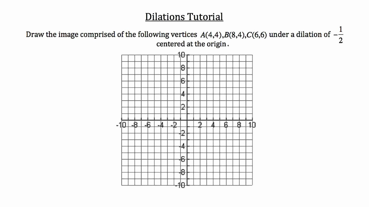 Dilations Worksheet Answer Key Unique Dilation Worksheets Kuta