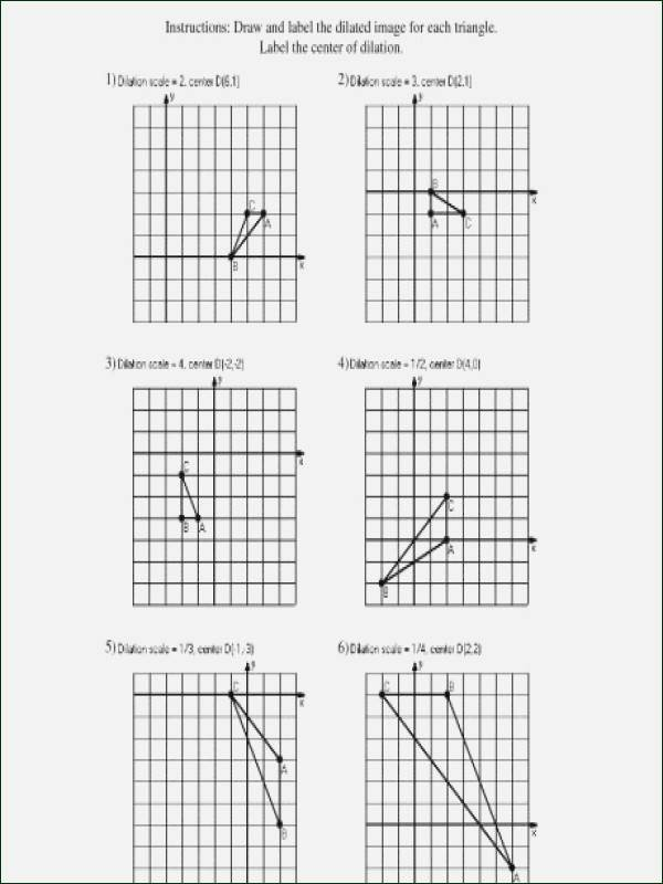 Dilations Worksheet with Answers Awesome Dilations Worksheet Kuta