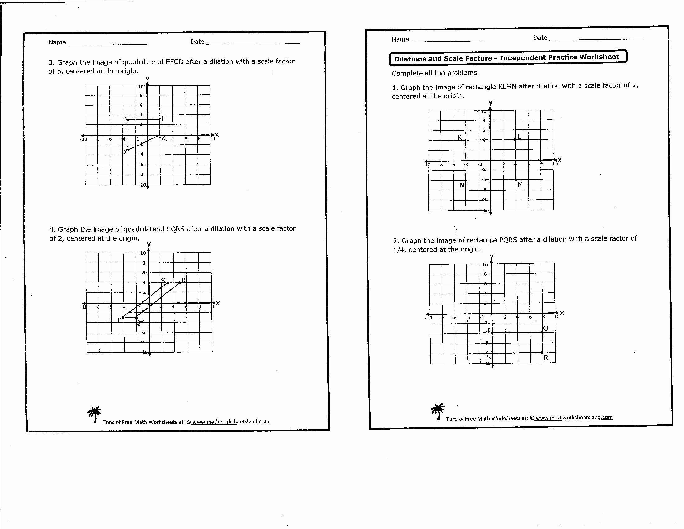 Dilations Worksheet with Answers Beautiful 18 Best Of Dilation Worksheets for 8th Grade 8th