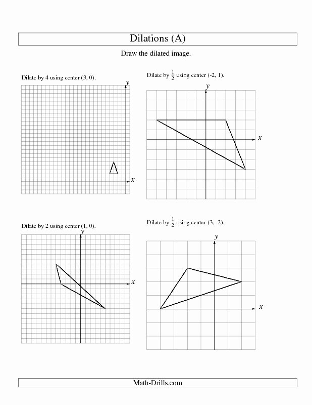 Dilations Worksheet with Answers Elegant Math Dilation Worksheet 8th Grade Math Dilation