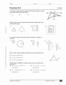 Dilations Worksheet with Answers Inspirational Practice 9 5 Dilations Worksheet for 9th 12th Grade