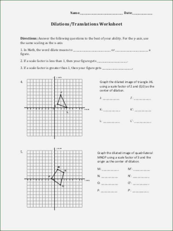 Dilations Worksheet with Answers Luxury Dilations Worksheet Answer Key