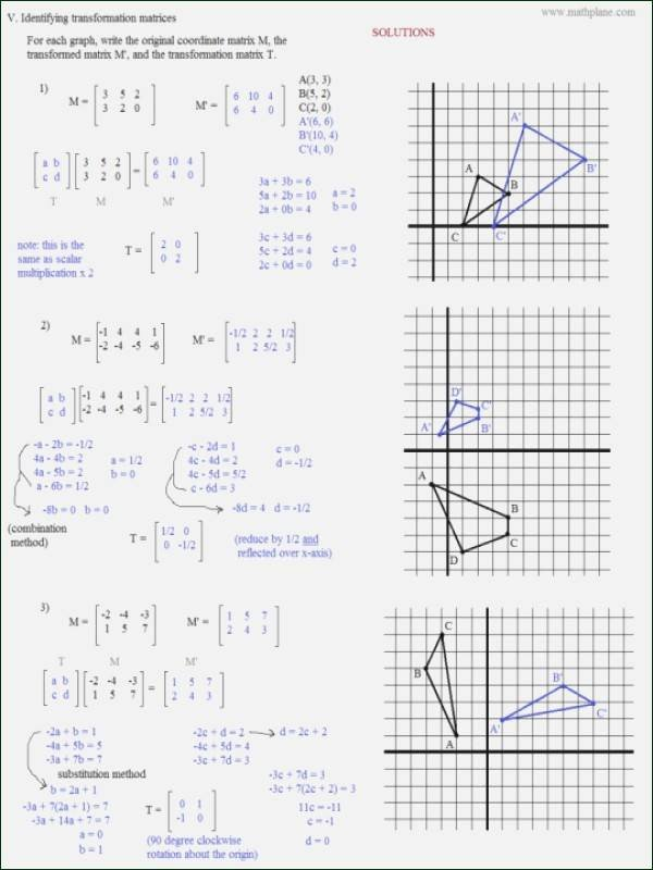 Dilations Worksheet with Answers Unique 37 Dilations Worksheet Answer Key