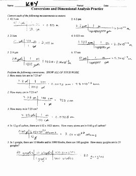 Dimensional Analysis Practice Worksheet Best Of Dimensional Analysis Practice — Canyon Physics