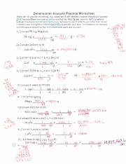 Dimensional Analysis Practice Worksheet Best Of Dimensional Analysis Practice Problems Answer Key Pdf