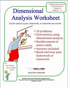 Dimensional Analysis Problems Worksheet Fresh Biology Worksheets Study Guides and Homework On